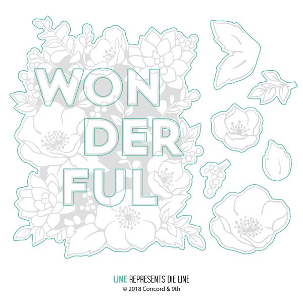 Concord & 9th Wonderful Florals dies | Serendipity Craft Boutique