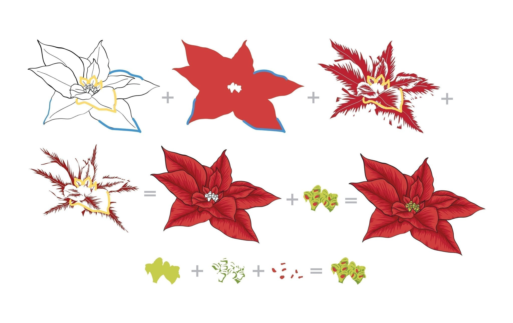 Altenew Build-A-Flower: Poinsettia Stamp Set  | Serendipity Craft Boutique