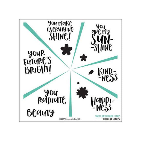 Concord & 9th Sunshine Turnabout Stamp Set | Serendipity Craft Boutique