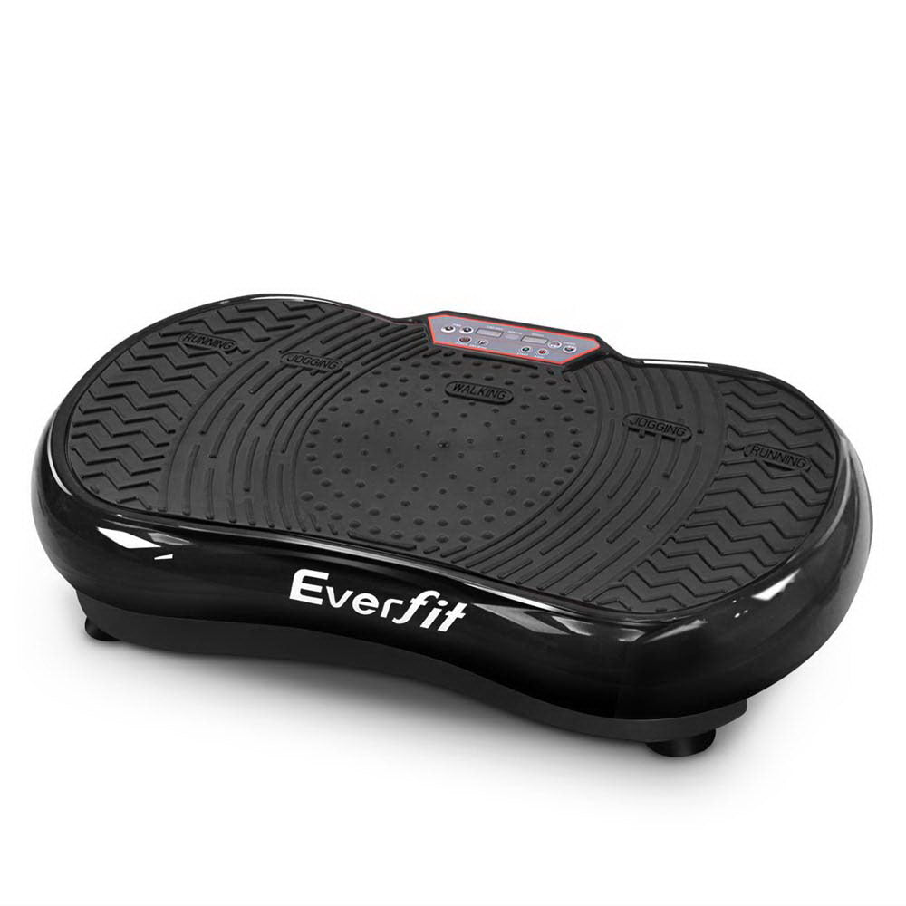Everfit Vibration Machine Plate Platform Body Shaper Home Gym Fitness Black