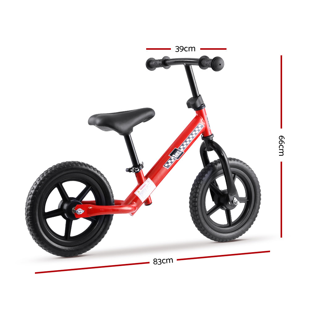 Kids Balance Bike Ride On Toys Puch Bicycle Wheels Toddler Baby 12 Bikes Red""