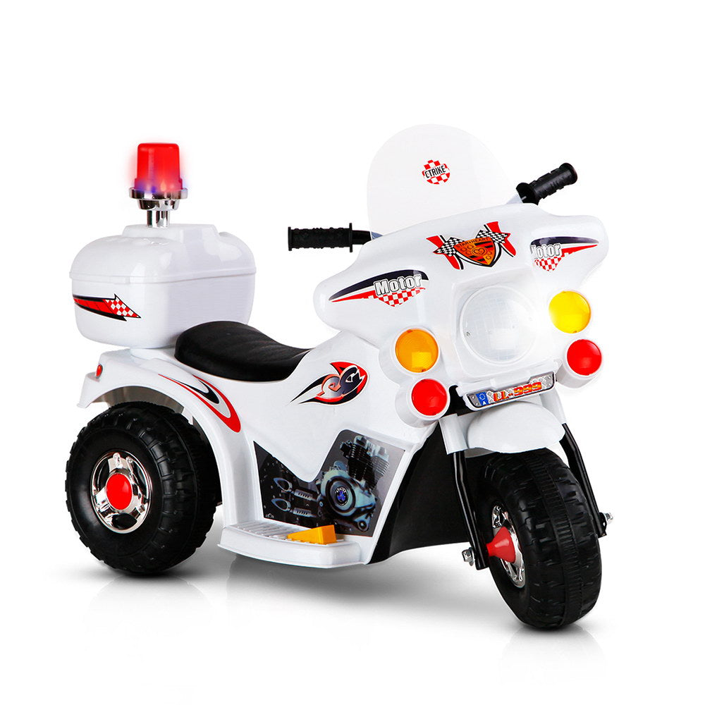 Rigo Kids Ride On Motorbike Motorcycle Car Toys White