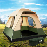 Weisshorn Family Camping Tent 4 Person Hiking Beach Tents Canvas Green