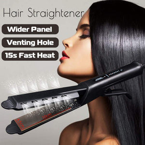 Hair Curler Wand Hair Straightener Style Straightening Flat Iron 2 in 1 Hair Styling Gold Titanium Pro Ceramic Corn Roller Magic