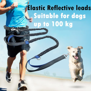 Pet Dog Elastic Belt Running Leash Set Hands Outdoor Dog Leashes Collar Pets Accessories Jogging Lead Adjustable Waist Rope
