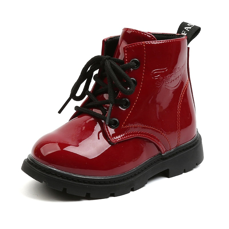 COZULMA New Autumn Winter Children Leather Boots Girls Boys Shoes Kids Martin Boots 1-6 Years Baby Ankle Boots Sports Sneakers