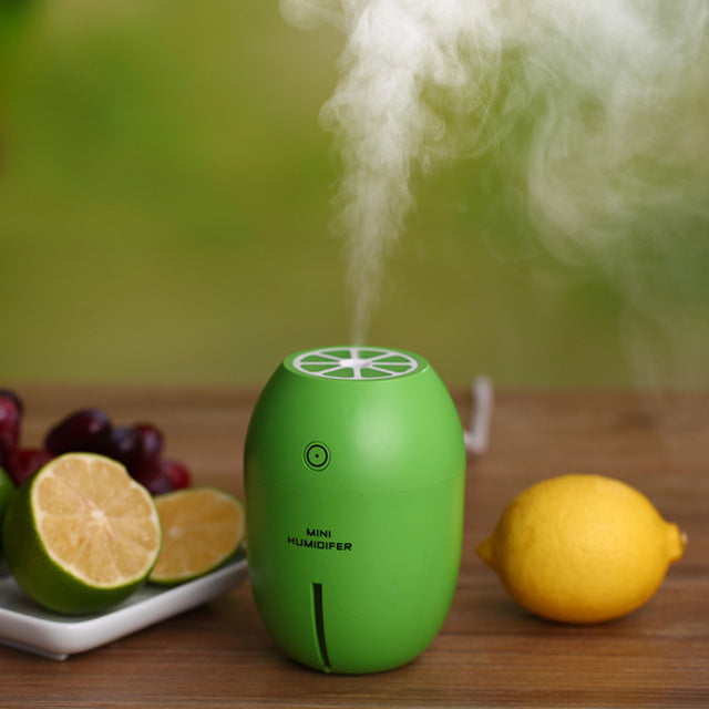 Portable Mini Humidifier for Home 4 Color USB Lemon Aroma Diffuser Umidificador Aromatherapy for Car Essential Oil Diffuse Para