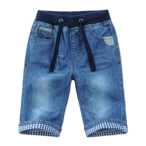 New Kids Boys Denim Shorts Summer Toddler Clothing Boys Casual Solid Soft Cotton Jeans Shorts For Baby Boys 2-13Y DQ301