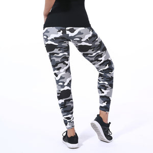 New Fashion Camouflage Printing Elasticity Leggings Green/Blue/Gray Camouflage Fitness Pant Legins Casual Legging For Women