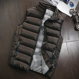 Casual Vest Men Autumn Winter Jackets Thick Vests Man Sleeveless Coats Male Warm Cotton-Padded Waistcoat men gilet veste hommes