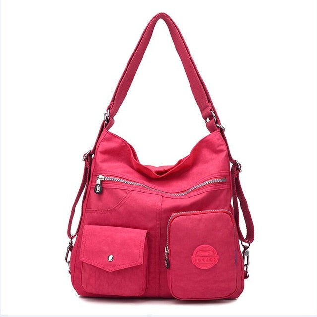 JINQIAOER New Waterproof Women Bag Double Shoulder Bag Designer Handbags High Quality Nylon Female Handbag bolsas sac a main