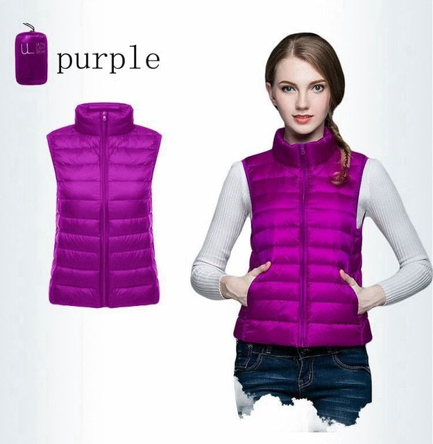 NewBang Brand Women Sleeveless Women's Ultra Light Down Vests Slim Jacket Girl Gilet Plus Lightweight Windproof Warm Waistcoat
