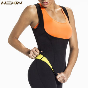 HEXIN Plus Size Neoprene Sweat Sauna  Body Shapers Vest Waist Trainer Slimming Vest Shapewear Weight Loss Waist Shaper Corset