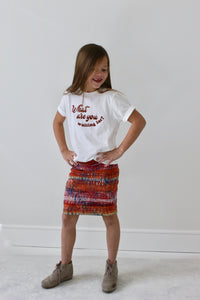 WHAT ARE YOU WAITING FOR? kids tee