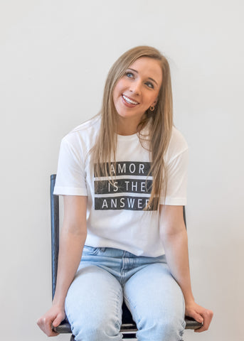 AMOR IS THE ANSWER adult tee