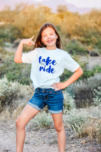 TAKE THE RIDE kids tee