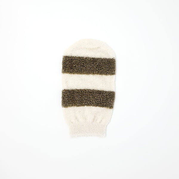 Natural Bamboo and linen mitt