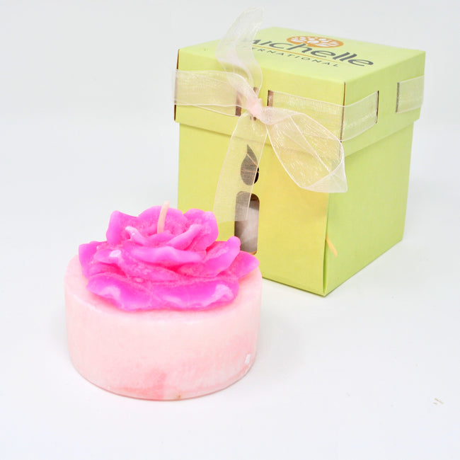 Handcrafted Scented Candle Rose