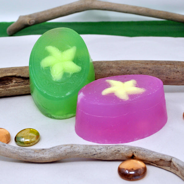 Set of 2 Handmade Vegan Starfish Soaps, Based on High Quality Lavender Oil and Pine Oil, lncredible Combination That Nourishes and Softens Your Skin