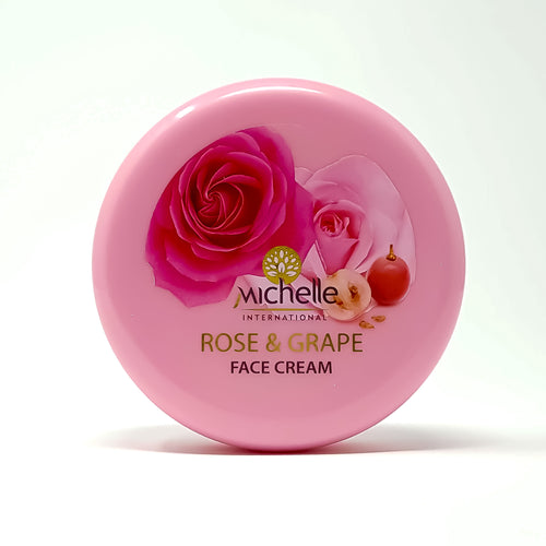 Face cream with Natural rose water and grape oil