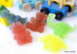 Set Of 4 Hand and Body Soaps, Animal Shaped - Dino, Bunny, T-Rex, Bear.  Suitable For Children All Ages.