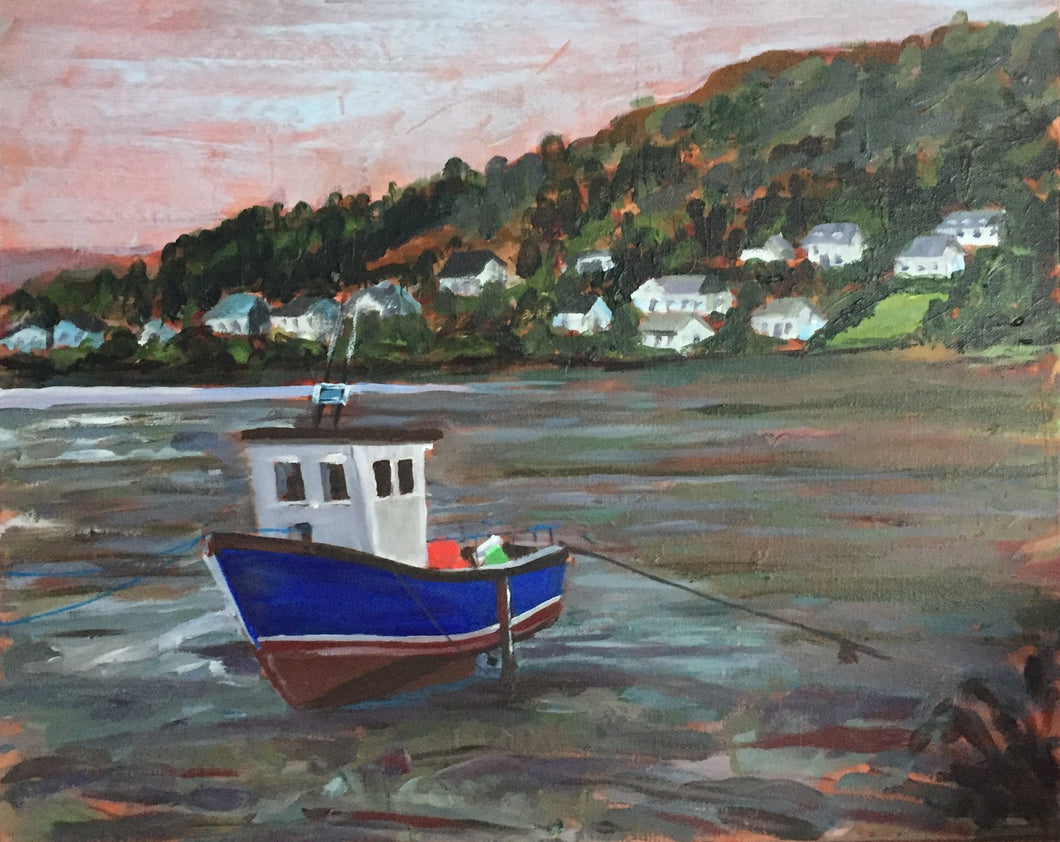 Portree Fishing Boat At Low Tide