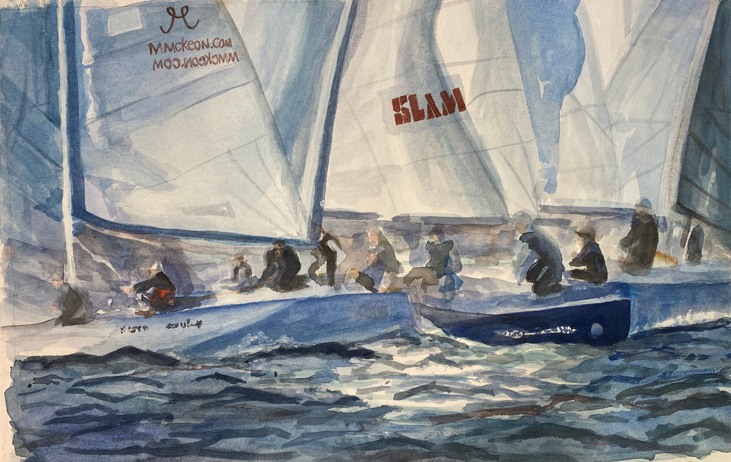 The Race Start-Sailboat Race on Lake Ontario
