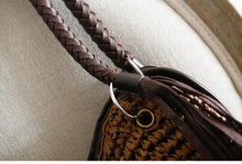 Tassel Bucket Rattan Bag