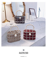 Pearl Handle Basket Clutch
