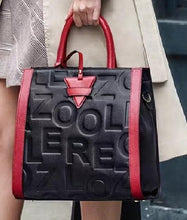 Red Handle Designer Tote