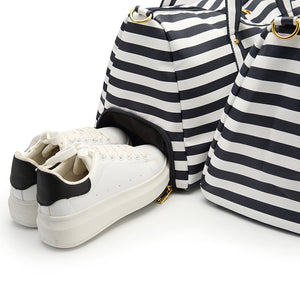 Striped Canvas Weekender