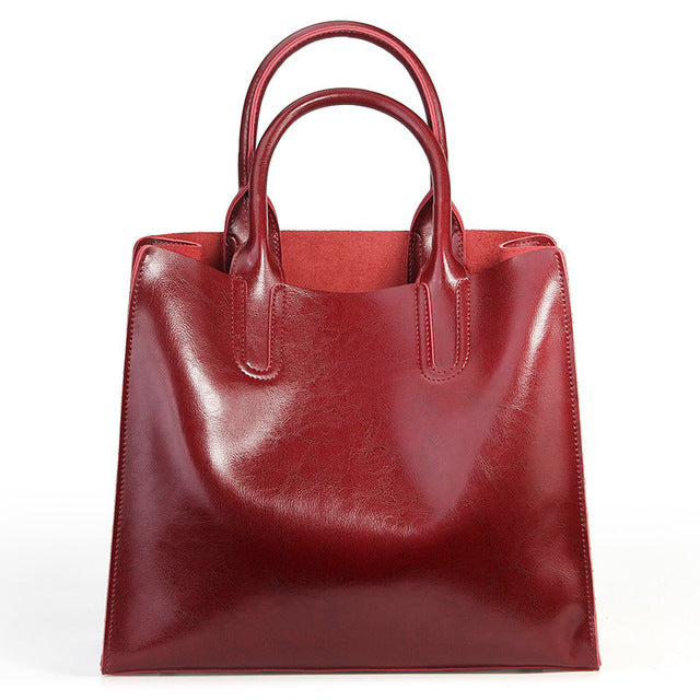 Designer Soft Leather Tote