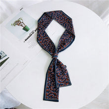 Colorful Skinny Silk Scarf