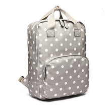 Polka Dot Canvas Backpack