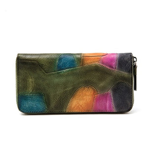 Multicolor Retro Bifold Wallet