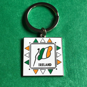 Ireland flag enamel key chains