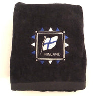 Embroidered Towel - Finland Flag