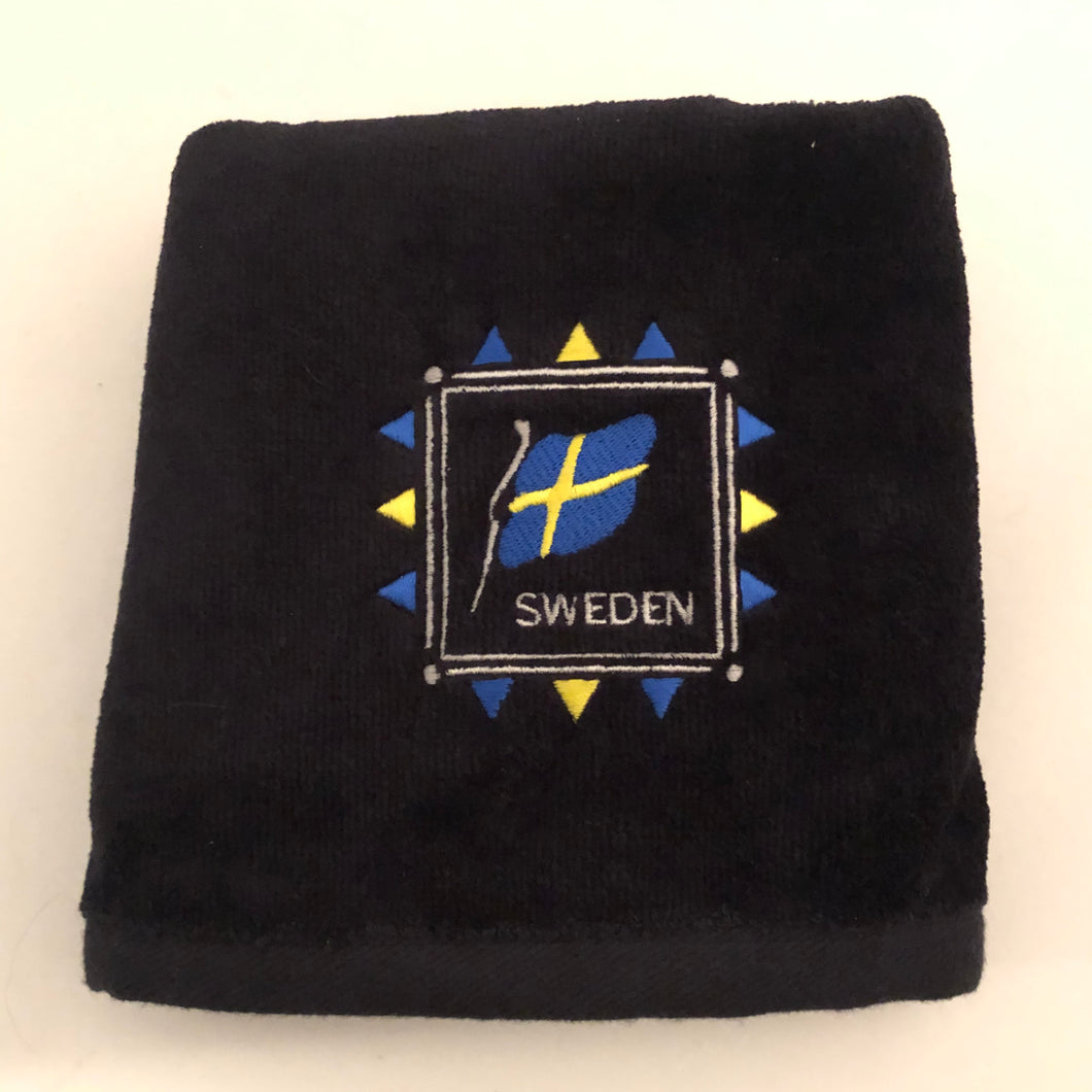 Embroidered Towel - Sweden Flag