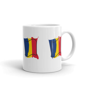 Romania Flag Splashes All Around | Mug