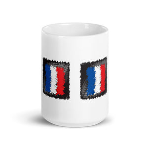 France Flag Marker Scribble All Around | Mug