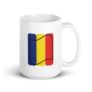 Romania Flag Scuffed Edges| Mug