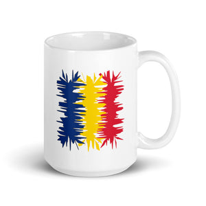 Romania Flag Electric 01 | Mug