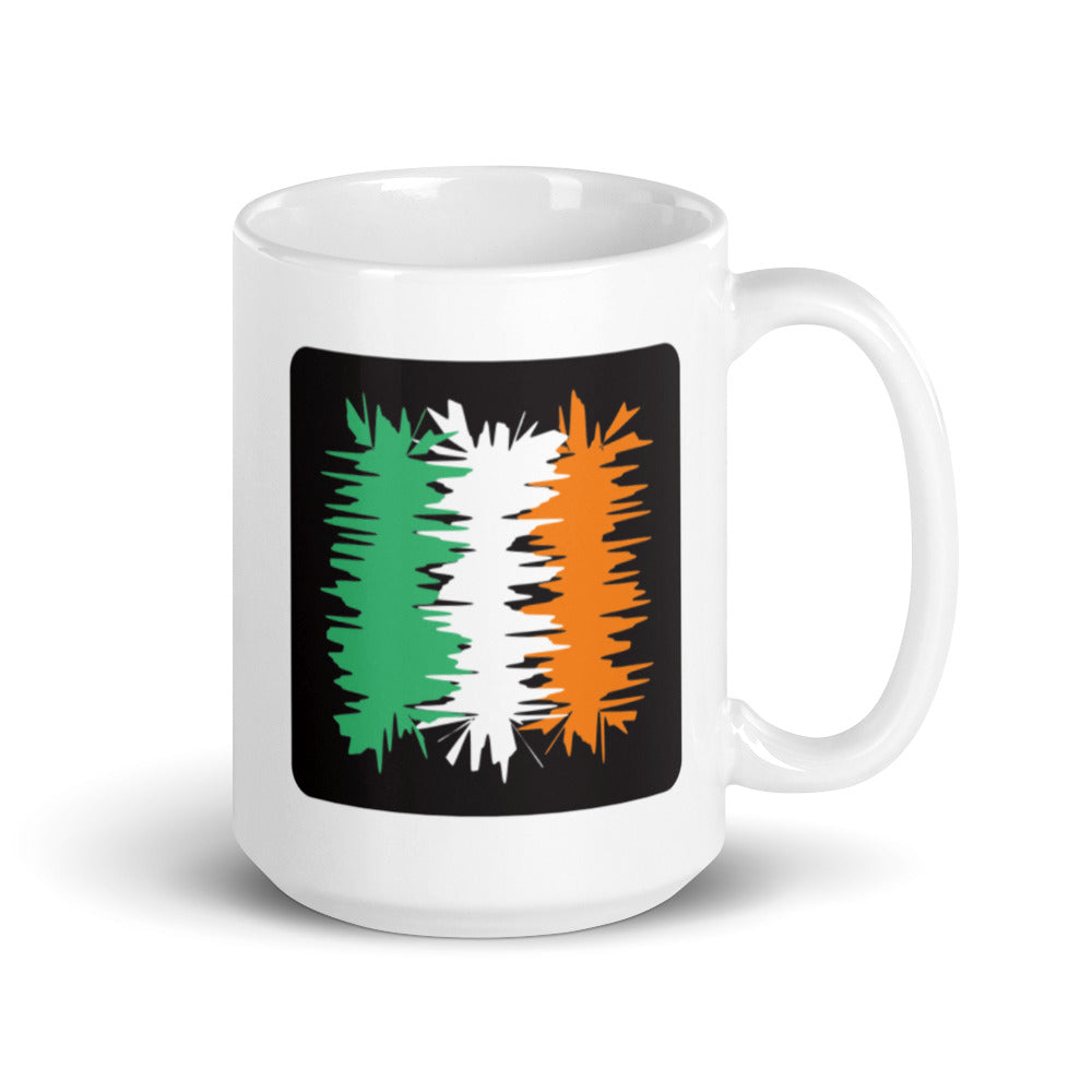 Ireland Flag Coffee Mug | Electric 02 | 15oz