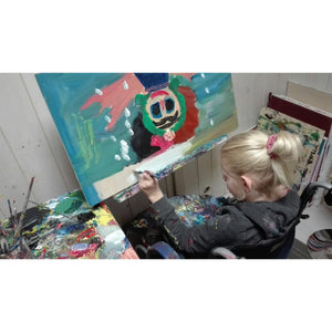 Clara Woods painting Frida Khalo