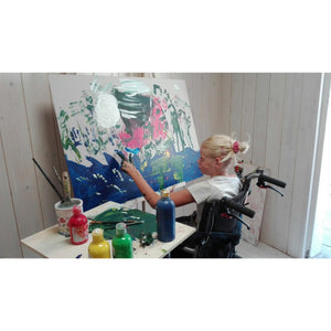 Clara woods working in the painting Nightmare