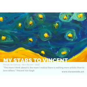 "Card ""Target"" - ""My Stars to Vincent"""