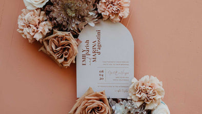 This Desert Invitation is Featured on Green Wedding Shoes!
