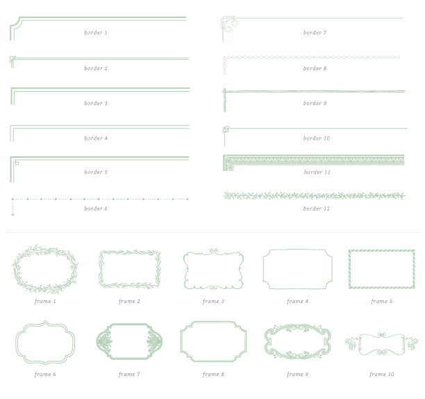 borders and frames for wedding invitations