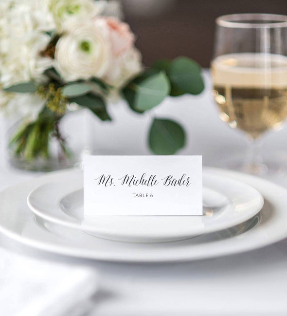 Bader Script Place Card