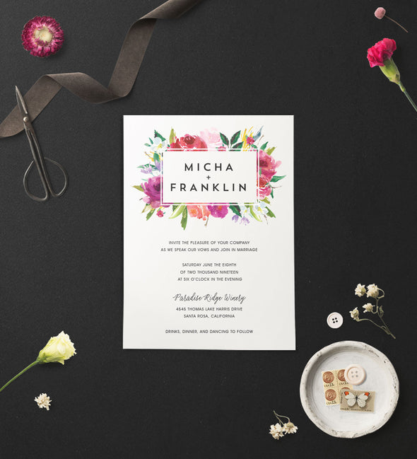 Blossoming Bouquet Wedding Invitation